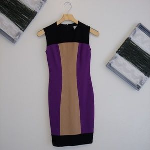 Cache color block sheath dress